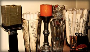 Vases candles music sheet